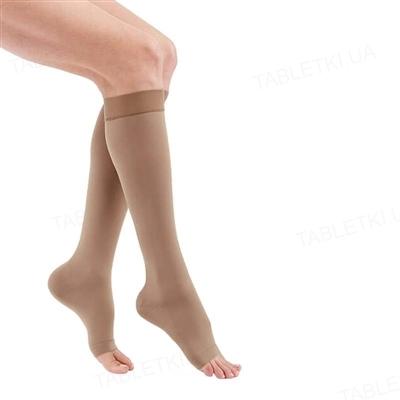 Гольфы компрессионные Medi Mediven Duomed basic открытый носок, 2 класс компрессии, цвет карамельный, размер 5
