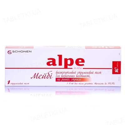 Тест струйный Alpe in-vitro Maybe для определения беременности на ранних сроках, 1 штука