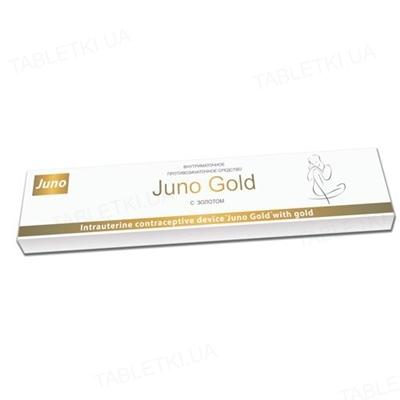 Спіраль внутрішньоматкова Юнона Juno Gold золота, 1 штука