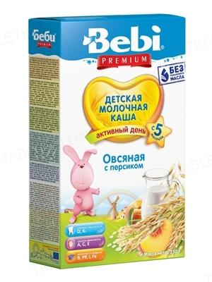 Суха молочна каша Bebi Premium Вівсяна з персиком, 250 г