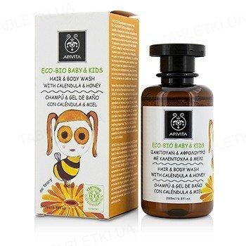 Средство для мытья тела и волос Apivita Eco-Bio Baby & Kids, мягкий с календулой и медом, 200 мл