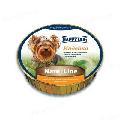 Корм влажный для собак Happy Dog Schale NaturLine Truthahn паштет с индейкой, 85 г