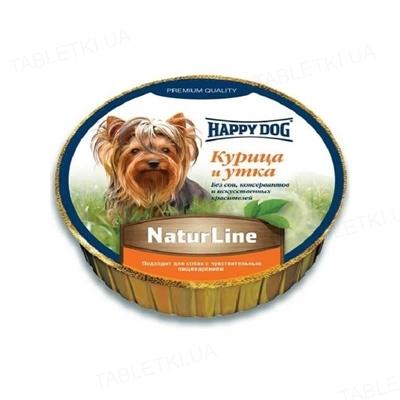 Корм влажный для собак Happy Dog Schale NaturLine НuhnEnte паштет с курицей уткой, 85 г
