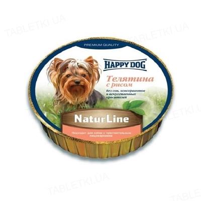 Корм влажный для собак Happy Dog Schale NaturLine KalbReis паштет с телятиной и рисом, 85 г