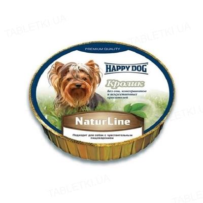 Корм влажный для собак HappyDog Schale NaturLine Kaninchen паштет с мясом кролика, 85 г