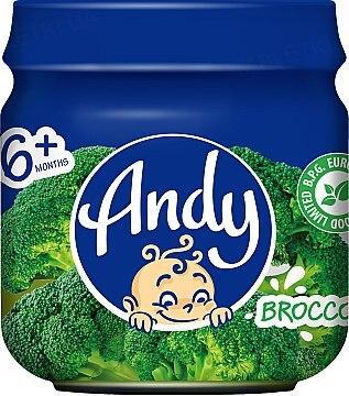 Пюре детское Andy Брокколи, 80 г