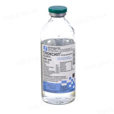 Глюксил раствор д/инф. по 200 мл в бутыл.
