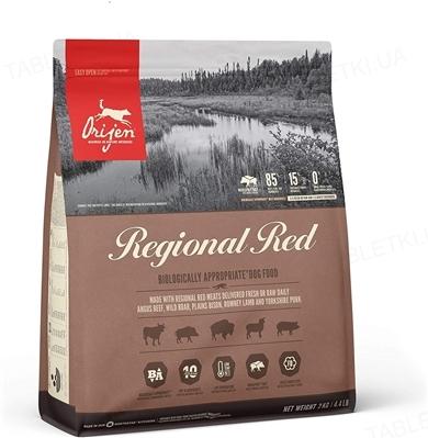Корм сухой для собак Orijen Regional Red Dog, 2 кг