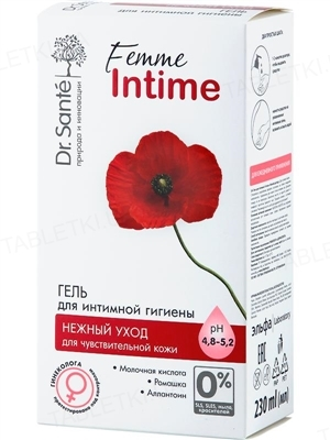 Гель для интимной гигиены Dr.Sante Femme Intime Нежный уход, 230 мл