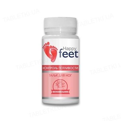 Тальк д/ног Happy Feet  Контроль потливости можжевельник по 50 г в бан.