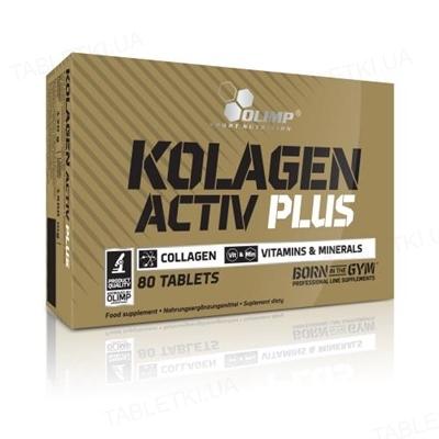 Аминокислота Olimp Kolagen Activ Plus Sport Edition, 80 таблеток