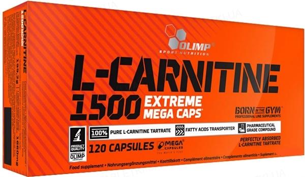 Жиросжигатель Olimp L-Carnitine 1500 Extreme, 120 капсул