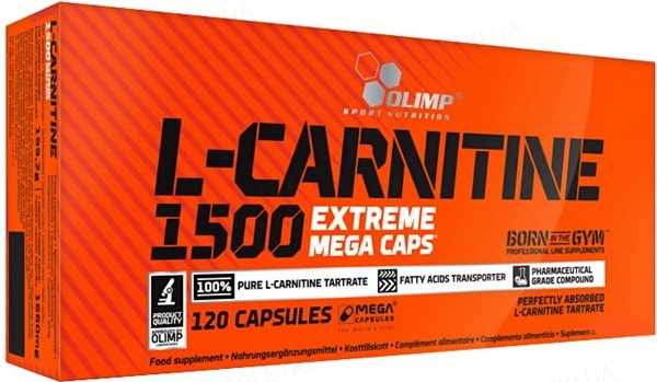 Жироспалювач Olimp L-Carnitine 1500 Extreme, 120 капсул