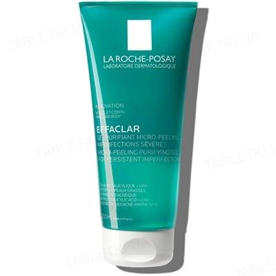 Гель-мікропіллінг La Roche-Posay Effaclar для очищення проблемної шкіри обличчя та тіла, 200 мл