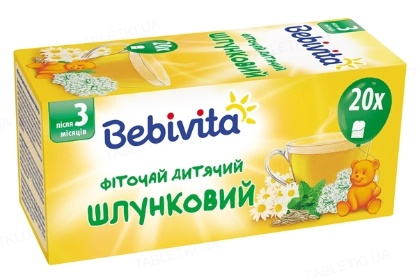 Фиточай детский Bebivita желудочный, 20 фильтр-пакетов по 1,5 г
