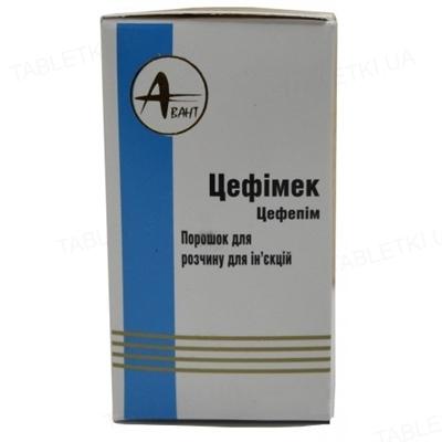 Цефимек порошок для р-ра д/ин. по 1000 мг №1 во флак.
