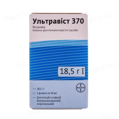 Ультравист 370 раствор д/ин. и инф. 370 мг/мл по 50 мл №1 во флак.