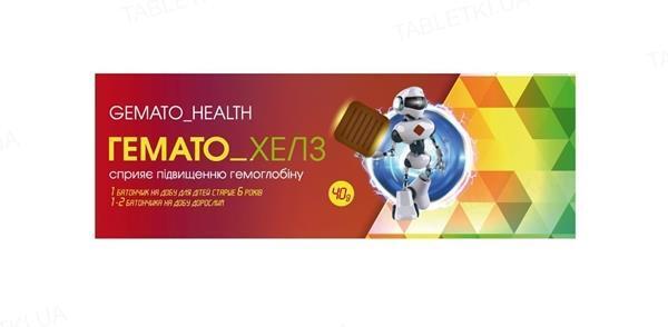 Батончик Гемато_Хелс для повышения гемоглобина для детей стерше 6 лет по 40 г