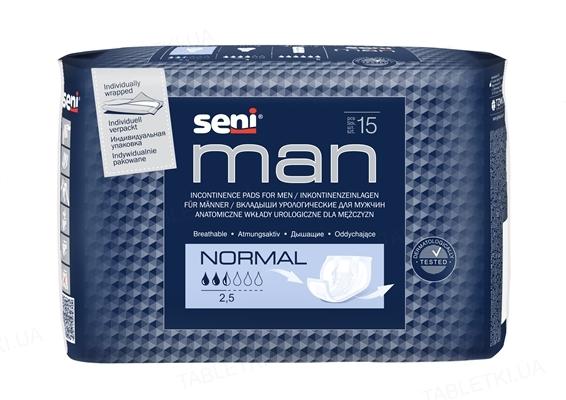 Прокладки урологические Seni Man normal, 15 штук