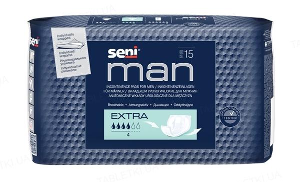 Прокладки урологiчнi Seni Man extra, 15 штук
