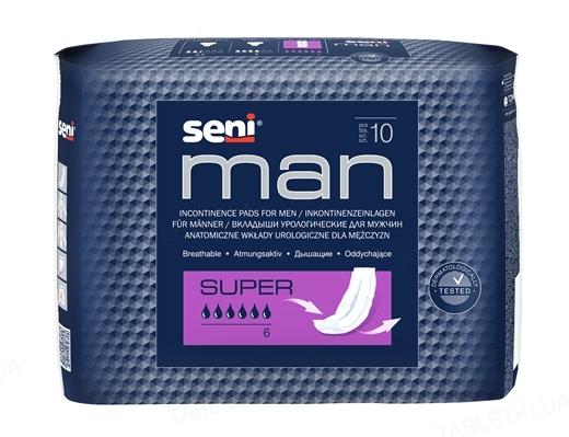 Прокладки урологические Seni Man super, 10 штук