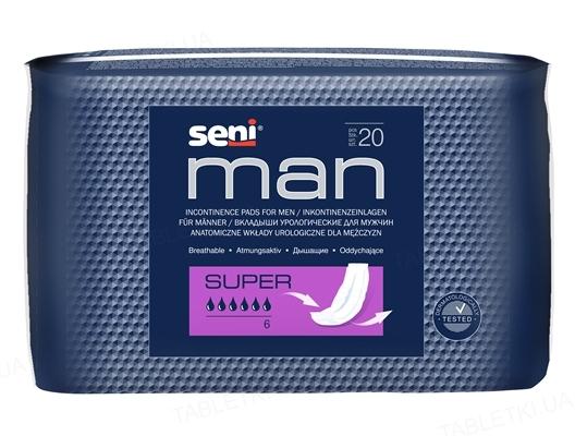 Прокладки урологические Seni Man super, 20 штук
