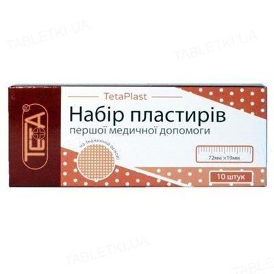 Пластырь бактерицидный Teta на тканевой основе 1,9 см х 7,2 см, 10 штук