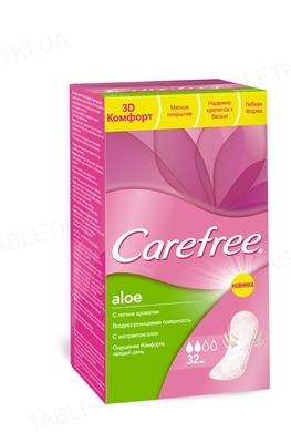 Прокладки ежедневные Carefree Aloe гигиенические, 32 штуки