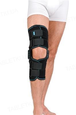Бандаж (ортез) на коленный сустав Алком 4033 с полицентричными шарнирами, цвет черный, размер универсальный