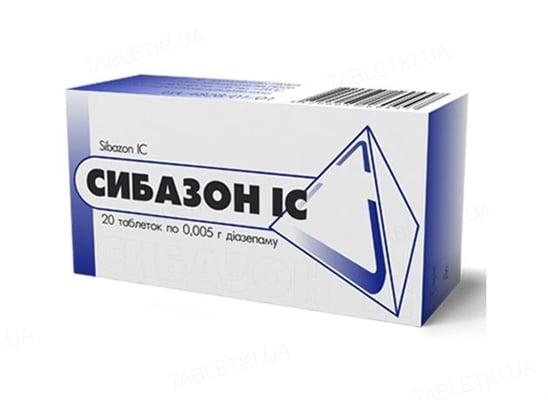 Сибазон IC таблетки по 0.01 г №20 (10х2)