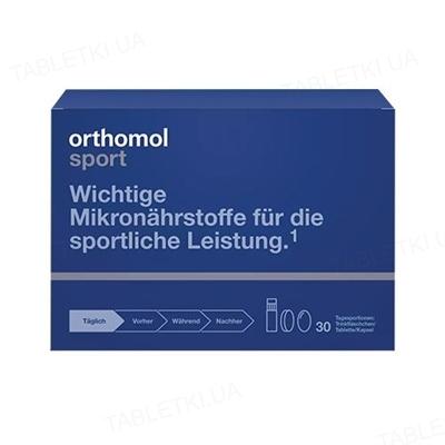 Ортомол Sport Омега-3 флаконы + капсулы + таблетки, курс 30 дней