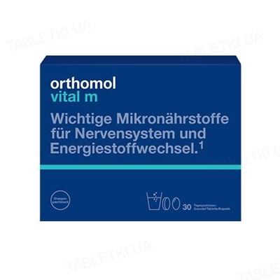 Ортомол Vital M гранулы + капсулы + таблетки, курс 30 дней