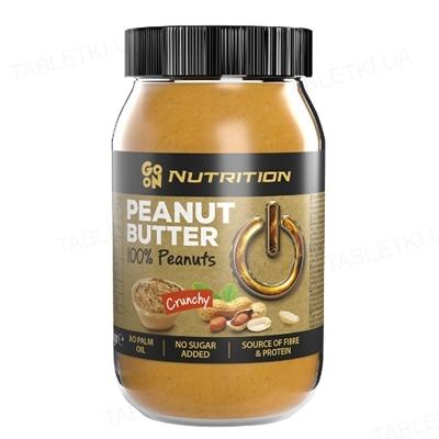 Арахисовое масло Sante Go On! Peanut butter crunchy 100%, стекло 900 г