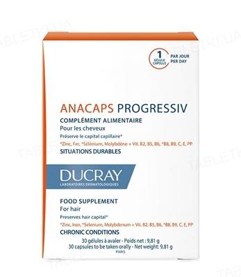 Диетическая добавка Ducray Anacaps Progressiv, 30 капсул