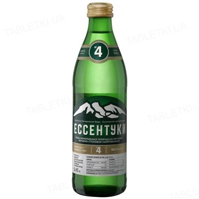 Вода минеральная Ессентуки №4 сильногазированная, стеклянная бутылка 0,45 л