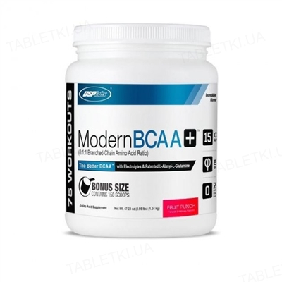 Аминокислота Modern BCAA+ USP labs фруктовый пунш, 1,34 кг