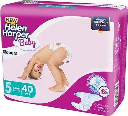 Подгузники Helen Harper размер 5 Junior, 11-25 кг, 40 штук