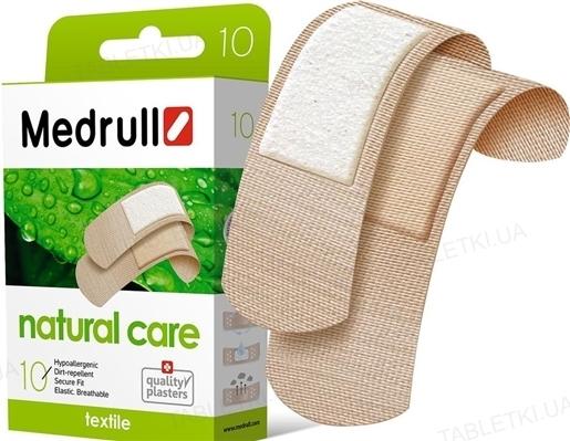 Набор пластырей медицинских Medrull Natural Care бактерицидный на тканевой основе, 10 штук