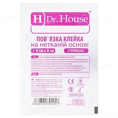 Повязка пластырная Dr. House H Pore стерильная нетканая 6 см х 8 см, 1 штука