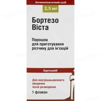 Бортезовиста порошок д/приг. р-ра д/ин. по 2.5 мг во флак. в пач.