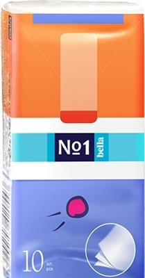 Платки бумажные носовые гигиенические Bella №1 трехслойные, 10 штук