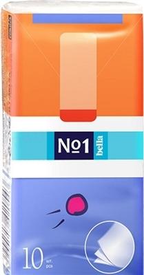 Хустинки паперові носові гігієнічні Bella №1 тришарові, 10 штук