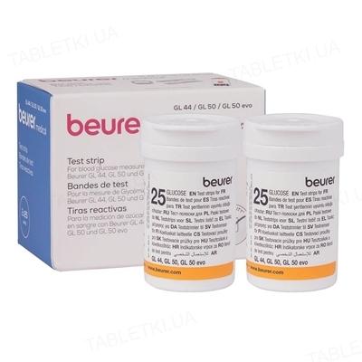 Тест-полоски Beurer GL 44/50 для глюкометра, 2 флакона по 25 штук