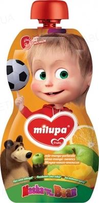 Фруктовое пюре Milupa Маша и Медведь Банан и Клубника для детей с 6 месяцев, 100 г
