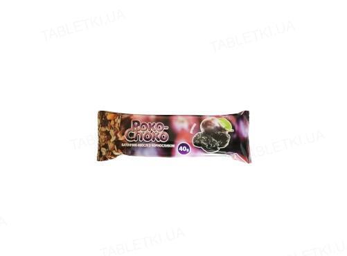 Батончик-мюсли Roko-Choko с черносливом в кондитерской глазури, 40 г