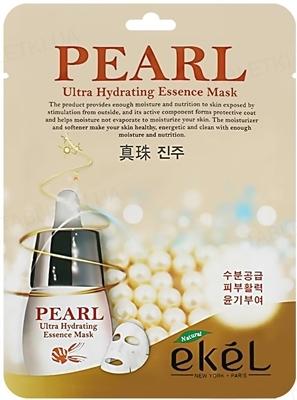 Маска тканевая для лица Ekel Ultra Hydrating Essence Mask Pearl с экстрактом жемчуга, 25 мл