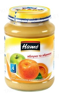 Фруктовое пюре Hame Яблоко и абрикос, 190 г