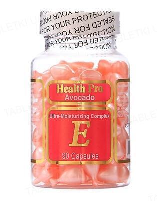 Комплекс HealthPro Avocado увлажнение для лица и шеи с авокадо и витамином Е капсулы №90