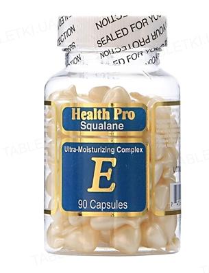 Комплекс HealthPro Squalane увлажнение для лица и шеи со скваланом и витамином Е капсулы №90