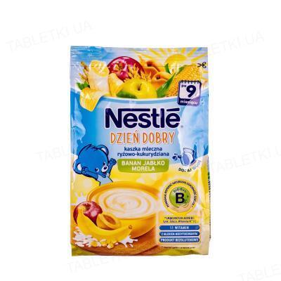 Молочная каша Nestle рисово-кукурузная с бананом, яблоком и абрикосом, с 9 месяцев, 230 г
